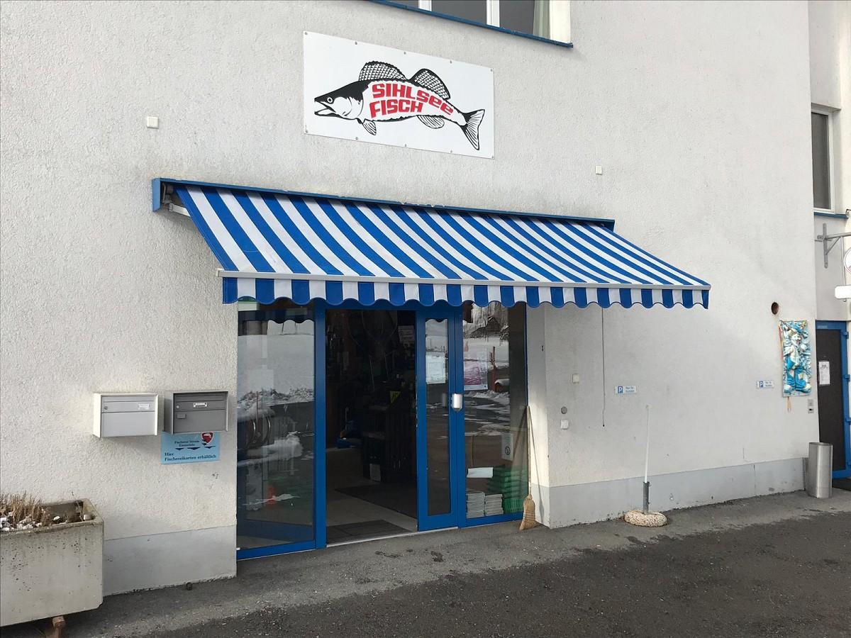 Fischerladen Sihlsee Eingang