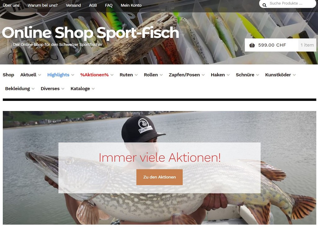 Online-Shop für Fischer und Angler
